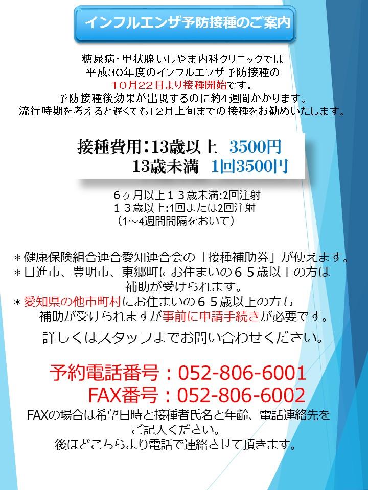 インフル 予防 接種 時期